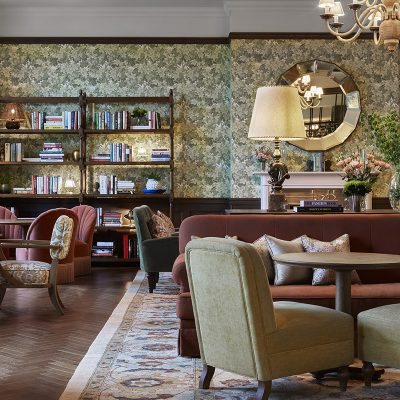 Autumnal decor in the Lounge of the Four Seasons Hotel, Hampshire