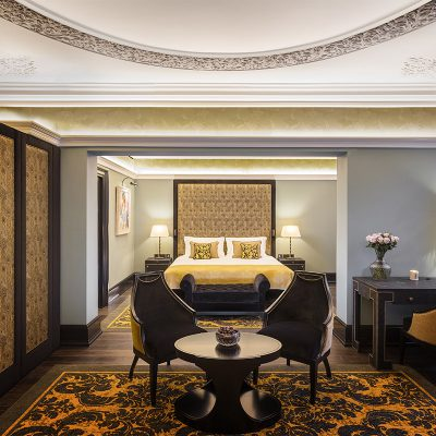 Bedroom in the L'oscar London Hotel